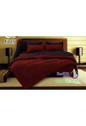 ชุดเครื่องนอนสีพื้น แดง น้ำเงิน ทูโทน Fair Lady ผ้าปูที่นอน ผ้านวมแฟร์เลดี้ FL25