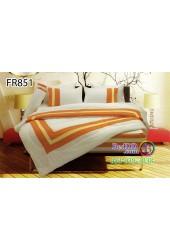 ชุดเครื่องนอนสีพื้น ครีมขาว ส้ม ทูโทน Fair Lady Refine ผ้าปูที่นอน ผ้านวมแฟร์เลดี้ รีไฟน์ FR851