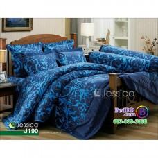 ชุดเครื่องนอนลายกราฟฟิค โทนสีน้ำเงิน Jessica ผ้าปูที่นอน ผ้านวมเจสสิก้า J190