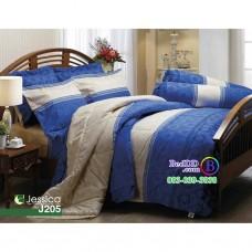 ชุดเครื่องนอนลายกราฟฟิค โทนสีน้ำเงิน Jessica ผ้าปูที่นอน ผ้านวมเจสสิก้า J205