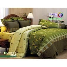 ชุดเครื่องนอนลายดอกไม้ โทนสีเขียว ครีม Jessica ผ้าปูที่นอน ผ้านวมเจสสิก้า J209