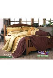 ชุดเครื่องนอนลายกราฟฟิค พื้นสีน้ำตาล Jessica ผ้าปูที่นอน ผ้านวมเจสสิก้า J216
