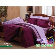 ชุดเครื่องนอนลายกราฟฟิค โทนสีม่วง Jessica ผ้าปูที่นอน ผ้านวมเจสสิก้า J222