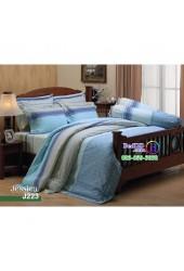 ชุดเครื่องนอนลายกราฟฟิค ฟ้า น้ำเงิน เทา Jessica ผ้าปูที่นอน ผ้านวมเจสสิก้า J223