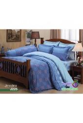 ชุดเครื่องนอนลายกราฟฟิค พื้นสีฟ้า Jessica ผ้าปูที่นอน ผ้านวมเจสสิก้า J225
