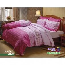 ชุดเครื่องนอนลายกราฟฟิค โทนสีชมพู Jessica ผ้าปูที่นอน ผ้านวมเจสสิก้า J228