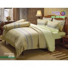 ชุดเครื่องนอนลายกราฟฟิค โทนสีครีม Jessica ผ้าปูที่นอน ผ้านวมเจสสิก้า J230