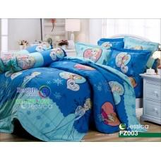 ชุดเครื่องนอนลายเอลซ่า โฟรเซ่น Frozen Elsa สีฟ้าเข้ม Jessica ผ้าปูที่นอน ผ้านวมเจสสิก้า FZ003