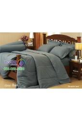 ชุดเครื่องนอนสีพื้นเทา Jessica ผ้าปูที่นอน ผ้านวมเจสสิก้า J-GRAY
