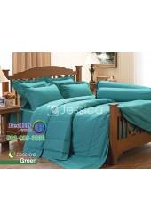 ชุดเครื่องนอนสีพื้นเขียว Jessica ผ้าปูที่นอน ผ้านวมเจสสิก้า J-GREEN