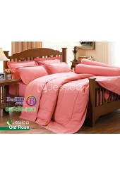 ชุดเครื่องนอนสีพื้นโอลด์โรส Jessica ผ้าปูที่นอน ผ้านวมเจสสิก้า J-OLDROSE
