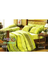 ชุดเครื่องนอนลายกราฟฟิค สีเขียว Jessica ผ้าปูที่นอน ผ้านวมเจสสิก้า J059