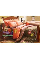 ชุดเครื่องนอนลายดอกพื้นสีน้ำตาลส้ม Jessica ผ้าปูที่นอน ผ้านวมเจสสิก้า J125