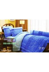 ชุดเครื่องนอนลายกราฟฟิคพื้นสีน้ำเงิน Jessica ผ้าปูที่นอน ผ้านวมเจสสิก้า J131