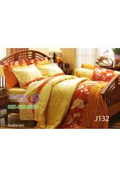 ชุดเครื่องนอนลายดอกพื้นสีน้ำตาล Jessica ผ้าปูที่นอน ผ้านวมเจสสิก้า J132