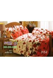 ชุดเครื่องนอนลายดอกกุหลาบพื้นสีครีม ของแดง Jessica ผ้าปูที่นอน ผ้านวมเจสสิก้า J152