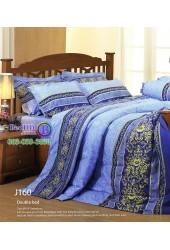 ชุดเครื่องนอนลายกราฟฟิค โทนสีน้ำเงิน Jessica ผ้าปูที่นอน ผ้านวมเจสสิก้า J160