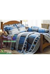 ชุดเครื่องนอนลายกราฟฟิคพื้นสีน้ำเงินเทา Jessica ผ้าปูที่นอน ผ้านวมเจสสิก้า J164
