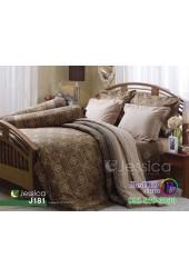 ชุดเครื่องนอนลายกราฟฟิคโทนสีน้ำตาล Jessica ผ้าปูที่นอน ผ้านวมเจสสิก้า J181