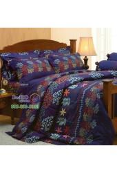 ชุดเครื่องนอนลายกราฟฟิคโทนสีน้ำเงิน Jessica ผ้าปูที่นอน ผ้านวมเจสสิก้า J182