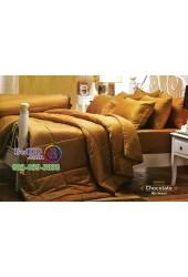 ชุดเครื่องนอนสีพื้นช็อคโกแลต Chocolate Jessica ผ้าปูที่นอน ผ้านวม Cotton 100% เจสสิก้า JC-CHOC