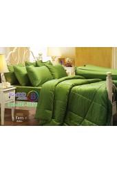 ชุดเครื่องนอนสีพื้นเขียวเฟิร์น Fern Jessica ผ้าปูที่นอน ผ้านวม Cotton 100% เจสสิก้า JC-FERN