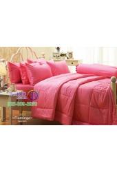 ชุดเครื่องนอนสีพื้นชมพู Flamingo Jessica ผ้าปูที่นอน ผ้านวม Cotton 100% เจสสิก้า JC-FLAM