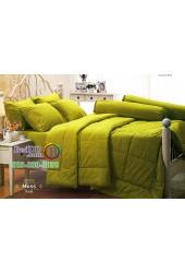 ชุดเครื่องนอนสีพื้นเขียวมอส Moss Jessica ผ้าปูที่นอน ผ้านวม Cotton 100% เจสสิก้า JC-MOSS