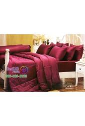 ชุดเครื่องนอนสีพื้นม่วงเปลือกมังคุด Purple Jessica ผ้าปูที่นอน ผ้านวม Cotton 100% เจสสิก้า JC-PURP