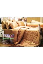 ชุดเครื่องนอนสีพื้นน้ำตาลทอง Sandy Brown Jessica ผ้าปูที่นอน ผ้านวม Cotton 100% เจสสิก้า JC-SAND
