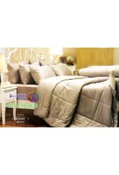 ชุดเครื่องนอนสีพื้นสีเงิน Silver Jessica ผ้าปูที่นอน ผ้านวม Cotton 100% เจสสิก้า JC-SILV