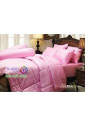 ชุดเครื่องนอนสีพื้นลายทาง ริ้วชมพู Stripe Pink Jessica ผ้าปูที่นอน ผ้านวม Cotton 100% เจสสิก้า JCS-PINK