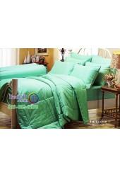 ชุดเครื่องนอนสีพื้นเขียวเทอร์ควอยซ์ Turquoise Jessica ผ้าปูที่นอน ผ้านวม Cotton 100% เจสสิก้า JC-TURQ