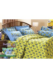 ชุดเครื่องนอนลายมินเนี่ยน Minions พื้นเหลือง Jessica ผ้าปูที่นอน ผ้านวมเจสสิก้า MN001