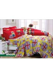 ชุดเครื่องนอนลายมินเนี่ยน Minions พื้นเหลือง แดง Jessica ผ้าปูที่นอน ผ้านวมเจสสิก้า MN004