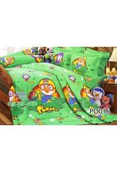 ชุดเครื่องนอนลายโพโรโระ Pororo สีเขียว Jessica ผ้าปูที่นอน ผ้านวมเจสสิก้า PO016