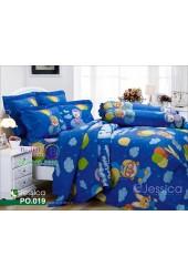 ชุดเครื่องนอนลายโพโรโระ Pororo สีน้ำเงิน Jessica ผ้าปูที่นอน ผ้านวมเจสสิก้า PO019