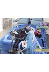 ชุดเครื่องนอนลายเอลซ่า โฟรเซ่น Frozen Elsa สีฟ้า Photo Print Jessica ผ้าปูที่นอน ผ้านวม Cotton 100% เจสสิก้า PP001