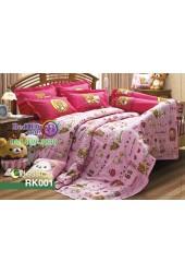 ชุดเครื่องนอนลายริลัคคุมะ Rilakkuma ตัวเล็ก สีชมพู Jessica ผ้าปูที่นอน ผ้านวมเจสสิก้า RK001