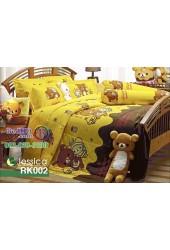 ชุดเครื่องนอนลายริลัคคุมะ Rilakkuma ตัวใหญ่ สีเหลือง Jessica ผ้าปูที่นอน ผ้านวมเจสสิก้า RK002