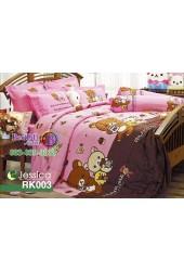 ชุดเครื่องนอนลายริลัคคุมะ Rilakkuma ตัวใหญ่ สีชมพู Jessica ผ้าปูที่นอน ผ้านวมเจสสิก้า RK003