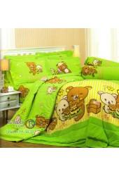 ชุดเครื่องนอนลายริลัคคุมะ Rilakkuma ตัวใหญ่ สีเขียว Jessica ผ้าปูที่นอน ผ้านวมเจสสิก้า RK004