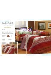 ชุดเครื่องนอนพิมพ์ลายดอกพื้นแดงครีม Premier Satin ผ้าปูที่นอน ผ้านวมพรีเมียร์ ซาติน P130