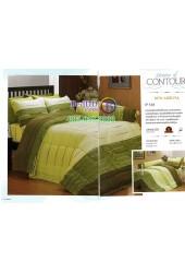 ชุดเครื่องนอนพิมพ์ลายโทนเขียวไล่เฉด Premier Satin ผ้าปูที่นอน ผ้านวมพรีเมียร์ ซาติน P131