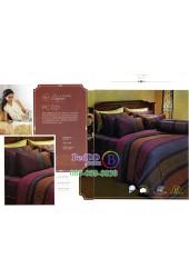 ชุดเครื่องนอนพิมพ์ลายคละสี Premier Satin ผ้าปูที่นอน ผ้านวม Cotton 100% พรีเมียร์ ซาติน PC021