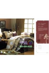 ชุดเครื่องนอนพิมพ์ลายต้นไม้โทนสีน้ำตาล Premier Satin ผ้าปูที่นอน ผ้านวม Cotton 100% พรีเมียร์ ซาติน PC029