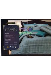 ชุดเครื่องนอนพิมพ์ลายทางโทนสีเขียวเทา Premier Satin ผ้าปูที่นอน ผ้านวม Cotton 100% พรีเมียร์ ซาติน PC038