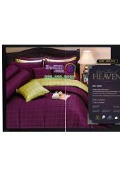 ชุดเครื่องนอนพิมพ์ลายทางโทนสีม่วง Premier Satin ผ้าปูที่นอน ผ้านวม Cotton 100% พรีเมียร์ ซาติน PC039