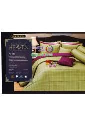ชุดเครื่องนอนพิมพ์ลายทางโทนสีเขียวอ่อน Premier Satin ผ้าปูที่นอน ผ้านวม Cotton 100% พรีเมียร์ ซาติน PC040