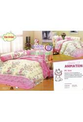 ชุดเครื่องนอนลายแมวมารี พื้นสีชมพู Premier Satin ผ้าปูที่นอน ผ้านวมพรีเมียร์ ซาติน PK044